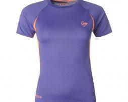T-Shirt Dunlop Performance Purple/Orange