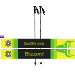 Blizzard ski poles gun smoke junior